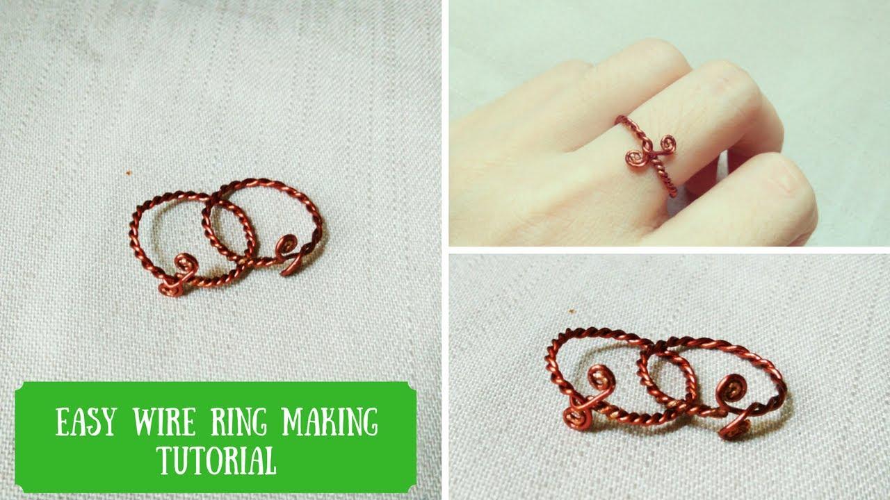 Handmade ring 🖤 Easy diy wire rings tutorial by Chic Handi Home ...