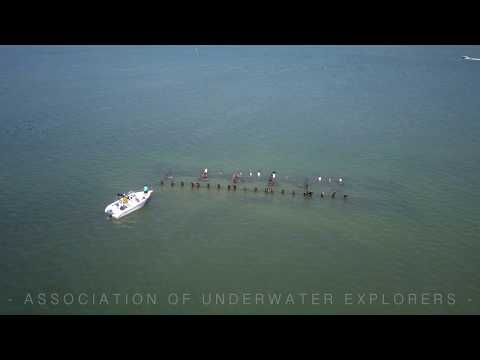 AERIAL FOOTAGE OF THE SKYWAY SHIPWRECK IN TAMPA BAY