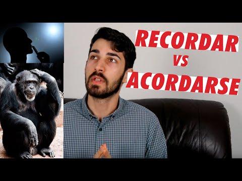 Recordar vs Acordarse (vs Acordar)