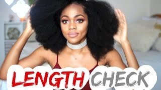 Length Check on 4C natural hair  | How long is my hair???  Luchi Loyale