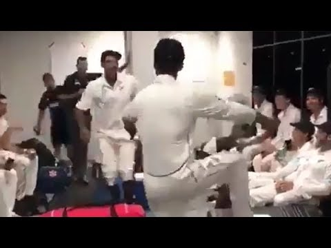 New Zealand players celebrate thrilling four-run win over Pakistan with bhangra dance thumbnail