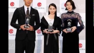 女優、河北麻友子(24)、三吉彩花(20)、俳優、竹内涼真(23)...