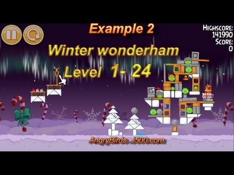Angry Birds Seasons Winter wonderham 1-24 Walkthrough 3 stars Sterne Full HD