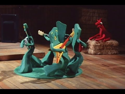 Gumby rocking out to Rush