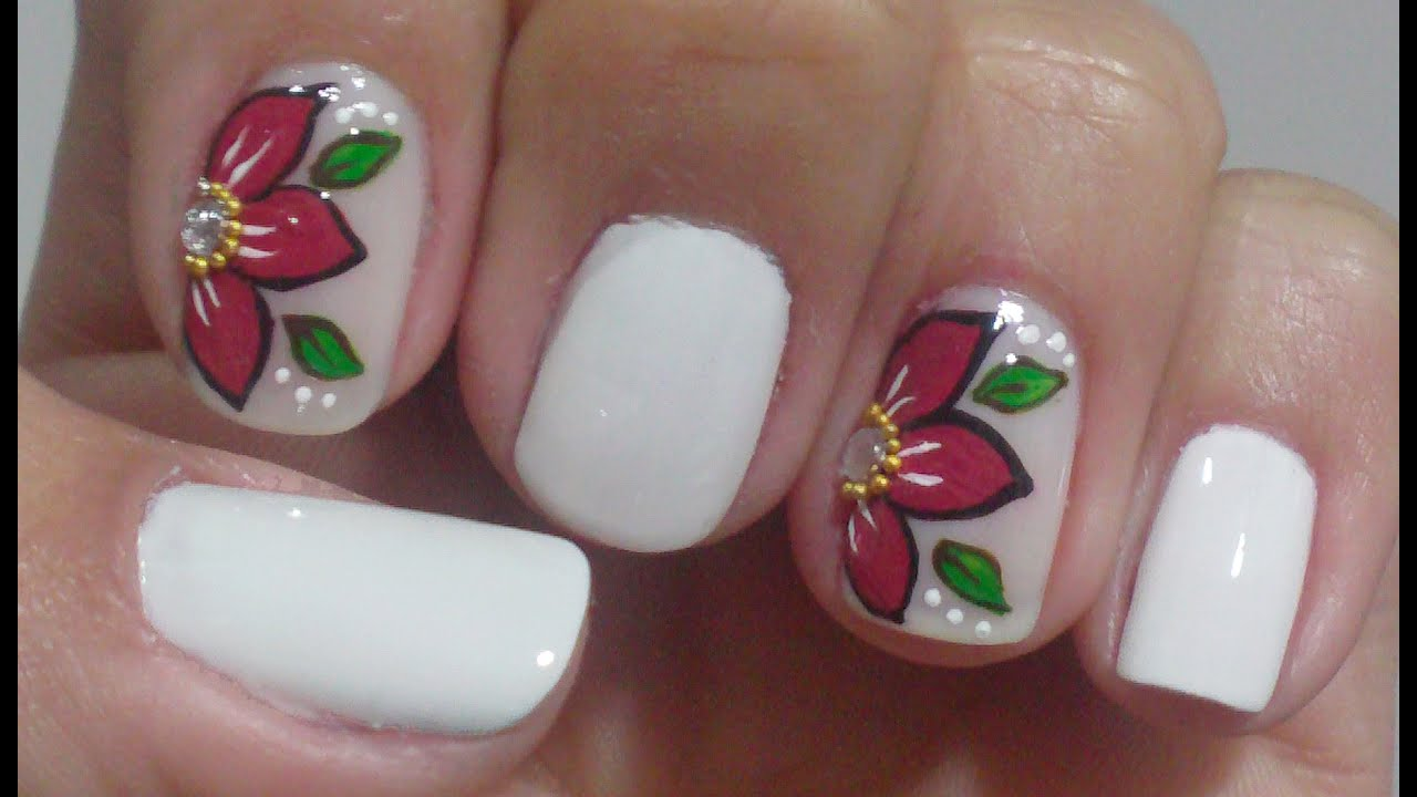 Unhas Express Decoracao Com Flor Manual Bela E Simples Youtube