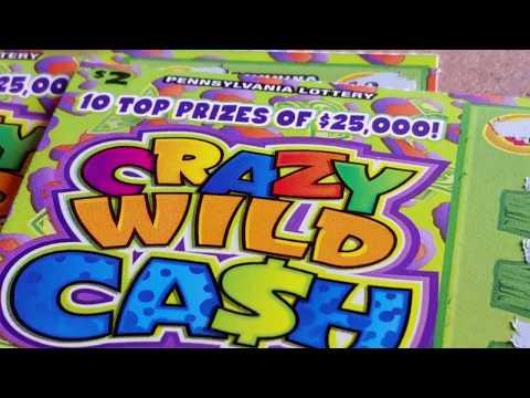 $2 CRAZY WILD CASH~HOT TICKET~CASH SPLASH SCRATCH OFFS~PA LOTTERY