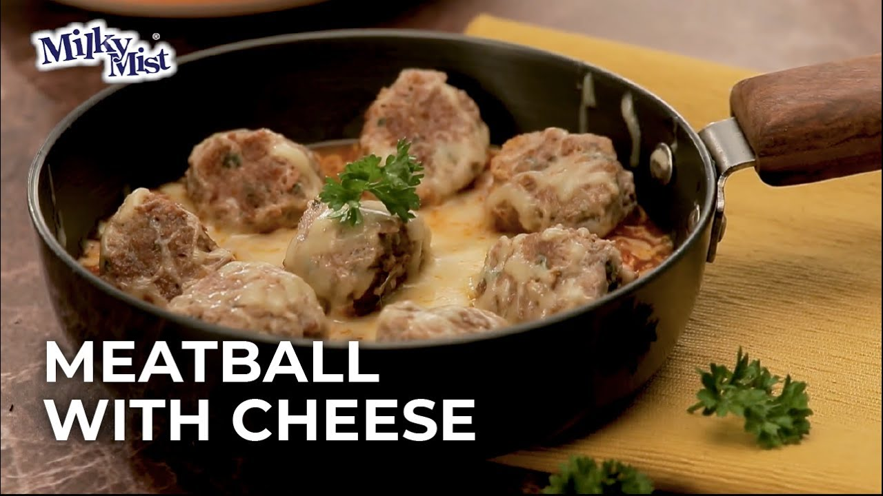 Amazing Cheesy Meatballs Recipe| English Recipe| MilkyMist