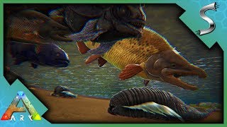 TAMING PIRANHA, LEECHES, SABERTOOTH SALMON & COEL! AQUARIUM PROJECT! - Ark: Survival Evolved [S4E88]