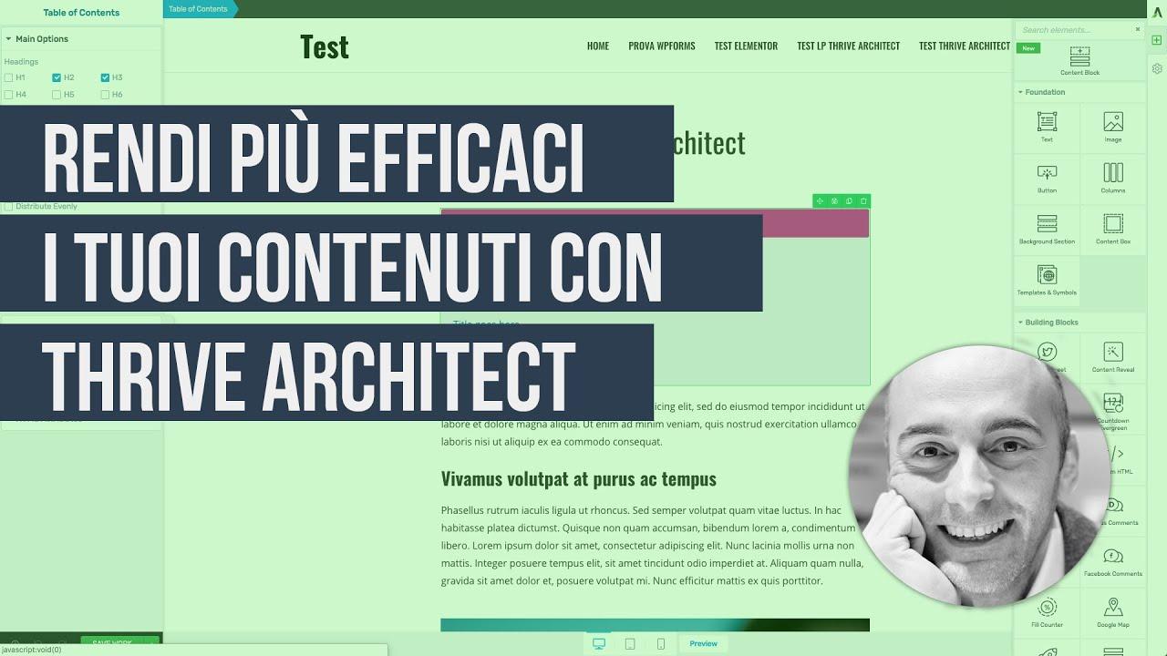 Recensione Thrive Architect: come usarlo per rendere più efficaci i tuoi articoli su WordPress