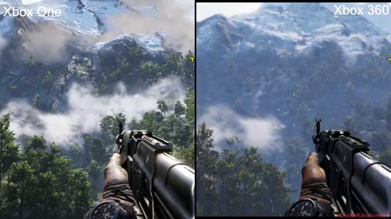 far cry 4 xbox 360 vs xbox one graphics comparison youtube. Black Bedroom Furniture Sets. Home Design Ideas