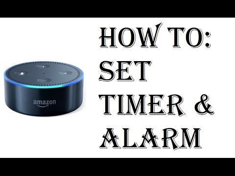 How To Set Alarm Clock or Timer Amazon Echo Dot - Echo Dot 2nd Generation Set Timer and Alarm