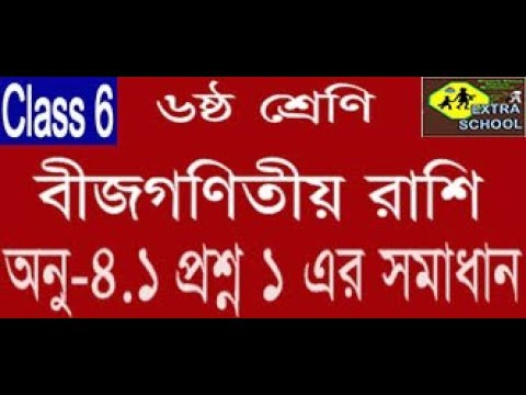 Class 6 Math Algebraic Expressions(বীজগণিতীয় রাশি)Question  no-1│Chapter-4 1│Bangla Tutorial