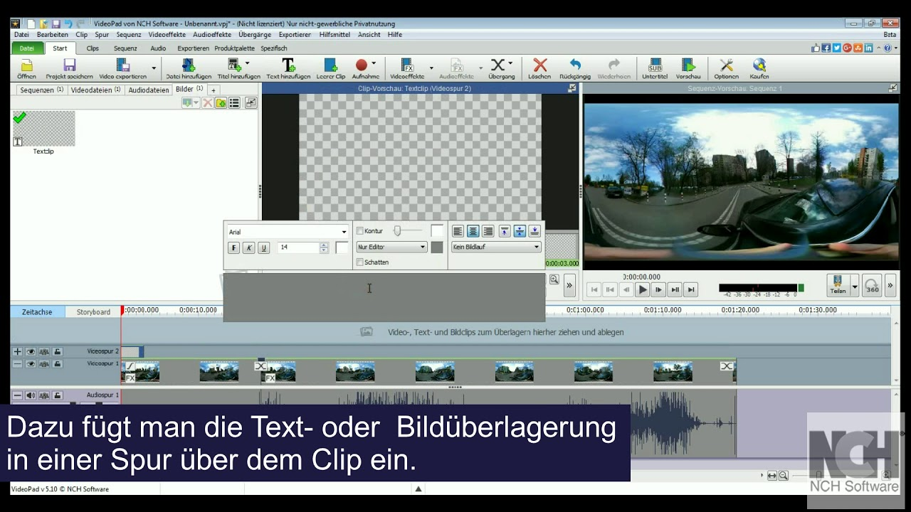 360°-Videos bearbeiten - VideoPad Video-Editor Tutorial ...