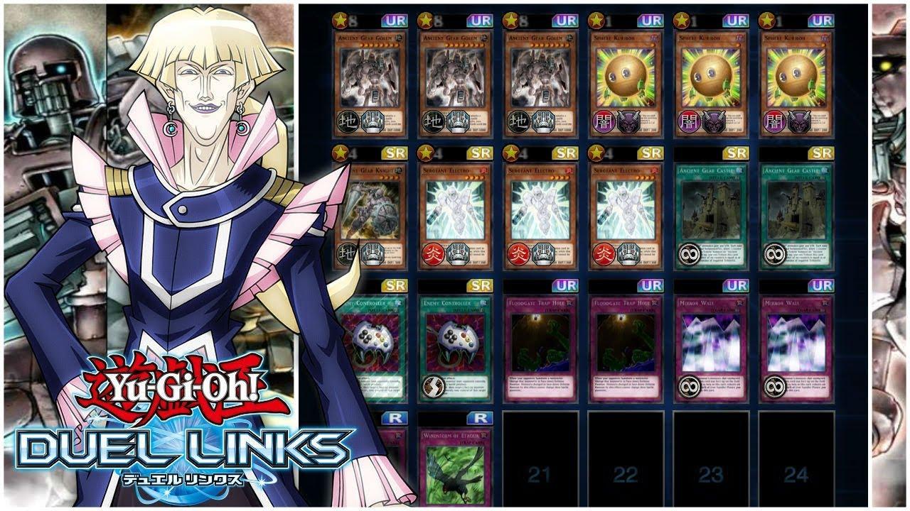 3 Ancient gear golem Deck!! SUPER POWERFUL!! [Duel Links]