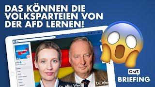 Wahlkampf 2017 auf Facebook - AFD legt vor, Altparteien versagen!  OMR Briefing #4 thumbnail