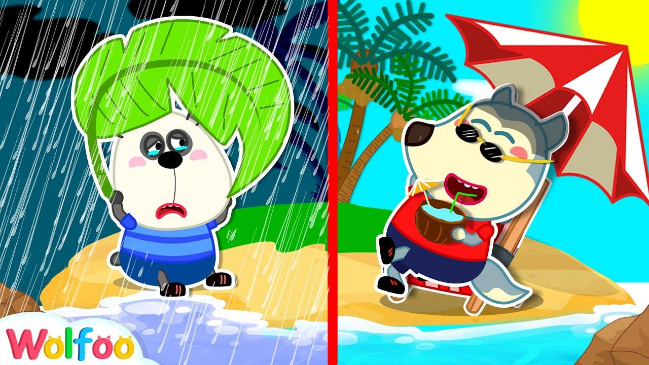 Wolfoo Gets Lost on A Desert Island - Kids Adventure | Wolfoo Family Kids Cartoon