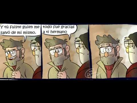 comic de gravity falls-hemanos stan parte II