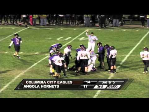 10-29-10 Columbia City @ Angola High School Football Highlights