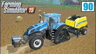 Nowy traktor i prasowanie słomy (Farming Simulator 15 #90), gameplay pl
