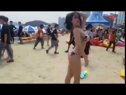 Bikini Girl Sexy dance at the beach (??? ??? ?? ??)
