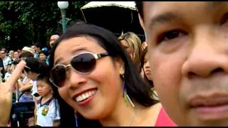 Hong Kong Disneyland Parade with Tania and Dimpna Coso together Kenjie and Kelvin Macawile
