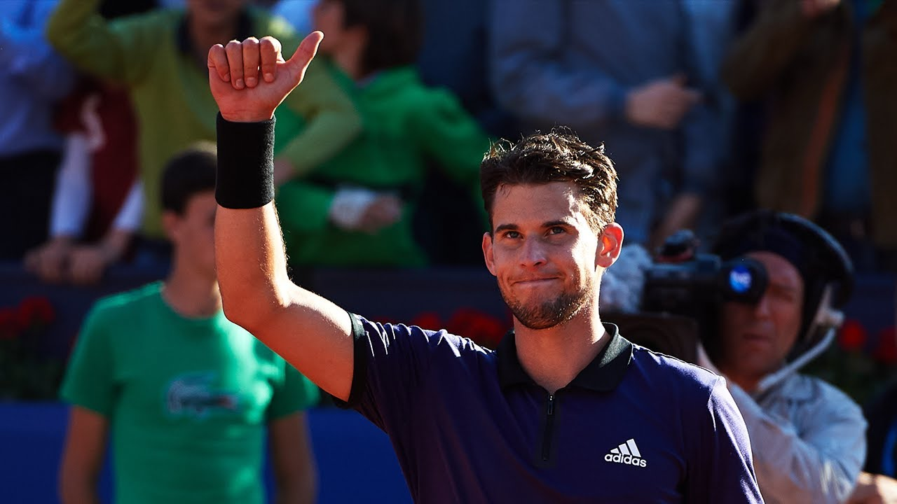 Dominic Thiem Great Shots in Stunning Win vs Nadal  Barcelona 2019  YouTube