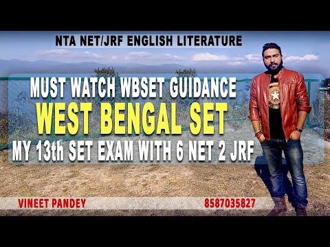 WEST BENGAL ( WBSET) SET EXAM GUIDANCE BY VINEET PANDEY (13TH SET EXAM)