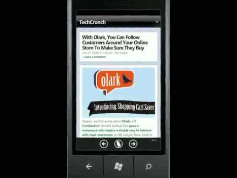 The MS Intern Windows Phone 7 RSS Feed Reader
