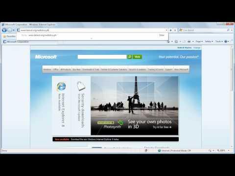 Web Slices in Internet Explorer 8 - Demo