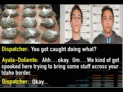 Listen: Paranoid drug traffickers smuggling marijuana while stoned call 911 on themselves
