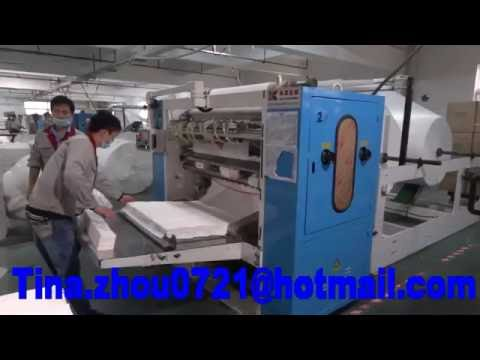 V fold Facial Tissue Machine with Log Saw cutting machine