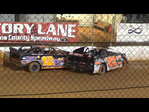 Laurens County Speedway: Minor spins and crashes 8/3/19