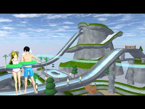 ไปเที่ยวสวนน้ำกัน อัพเดทใหม่สวยมาก sakura school simulator 🌸