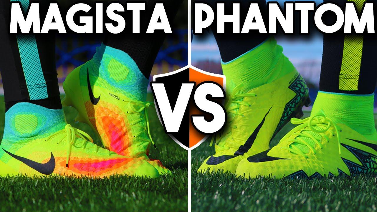 bb326fb05e7e Phantom II v Obra 2 Nike Hypervenom vs. Magista Soccer Cleats - YouTube