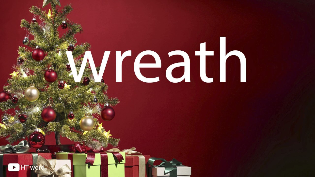 How to pronounce wreath (christmas words)