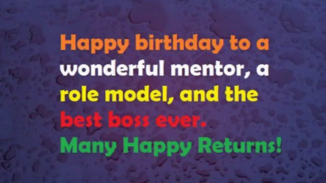Birthday Wishes To Our Chief Mentor Absm Virugambakkam Youtube Happy Birthday Wishes To Mentor