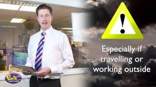 Met Office Yellow Weather Warning - An explanation