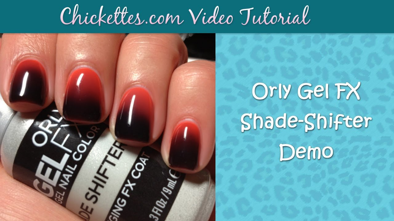Orly Gel FX Shade Shifter Demo - Color Changing Gel Polish - YouTube