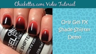 Orly Gel FX Shade Shifter Demo - Color Changing Gel Polish