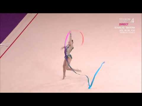 SALOS Anastasiia Ribbon Qualification World Challenge Cup Cluj Napoca 2019
