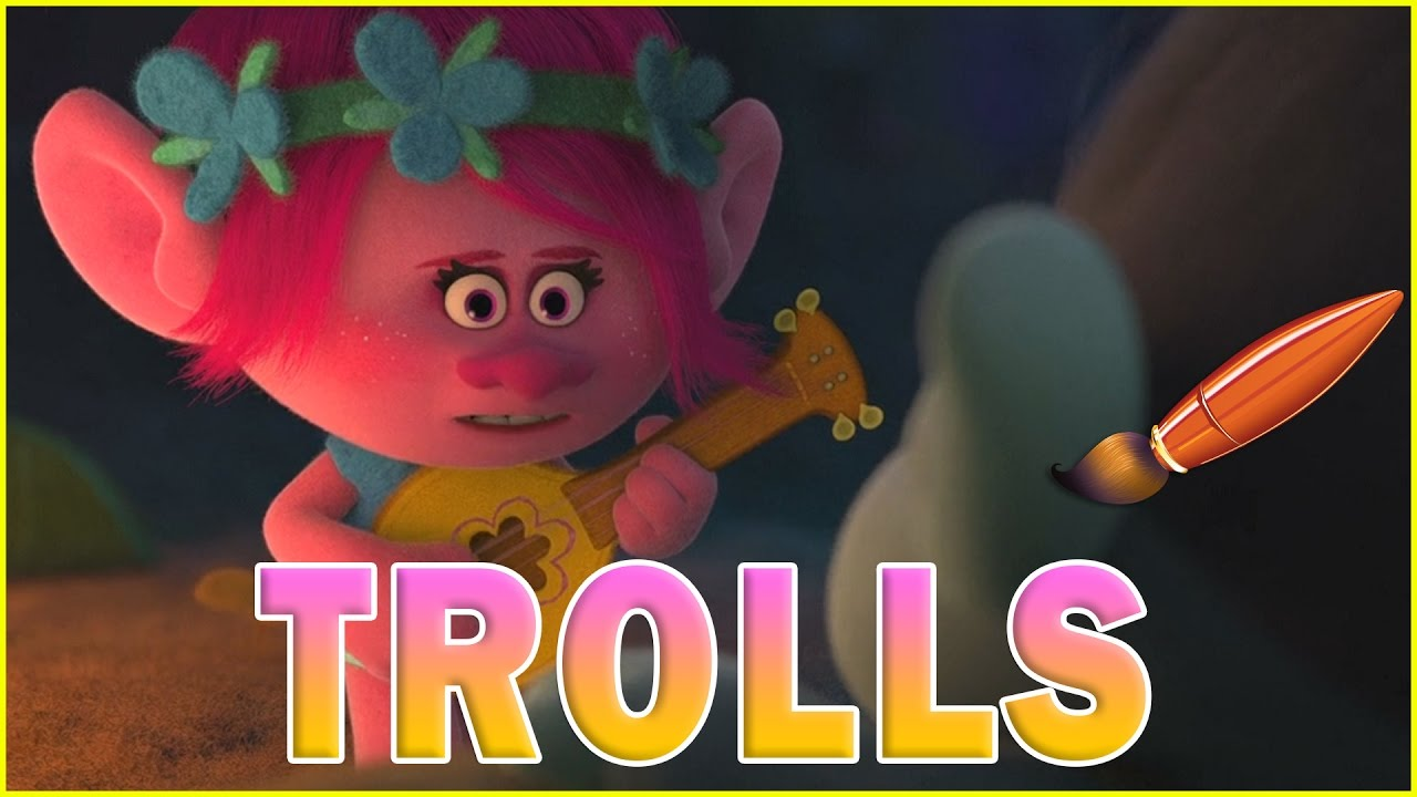 Trolls Movie Poppy Playing Guitar Kids Coloring Book