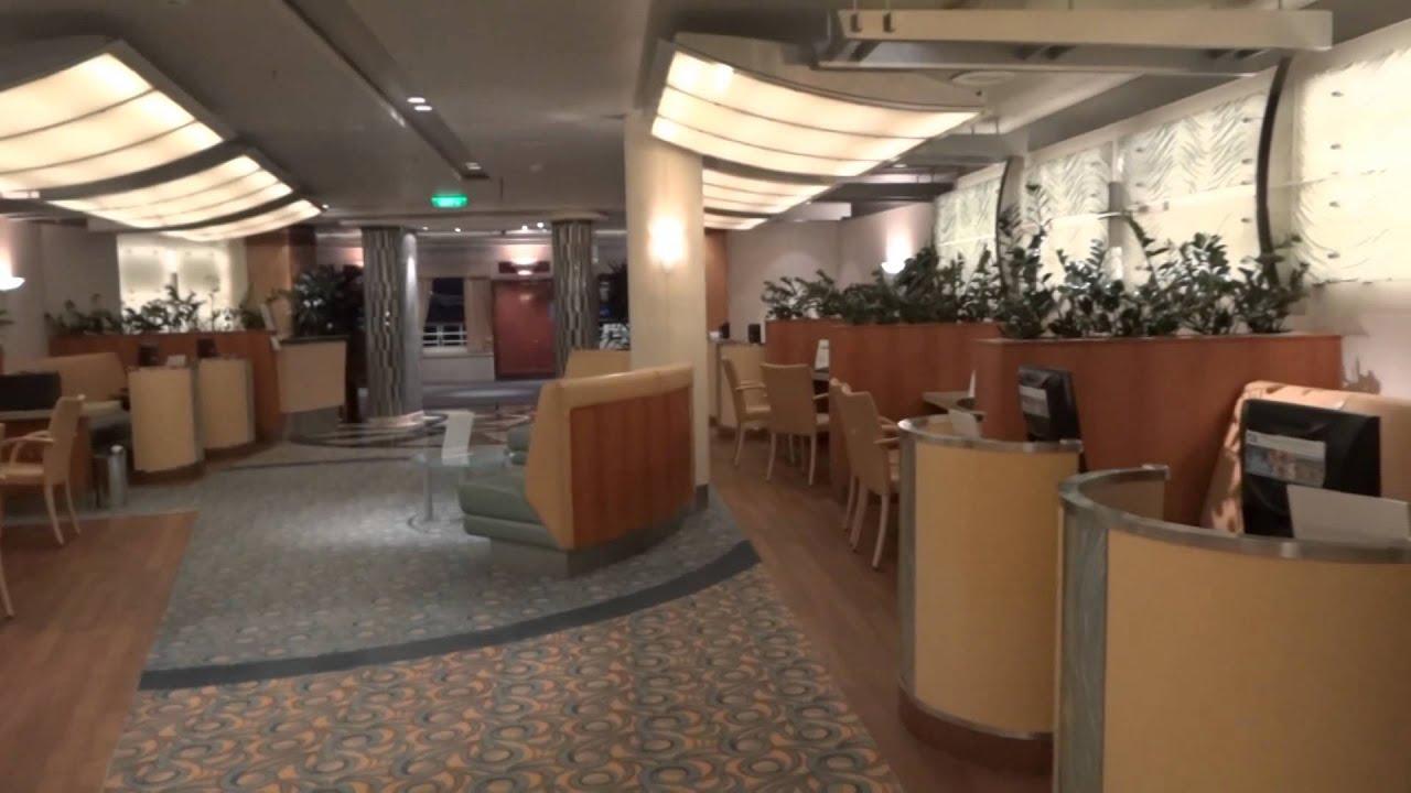 Internet Cafe Tour on Princess Cruise Ship - YouTube
