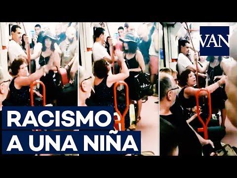 RACISMO   Niega su asiento a una NIÑA por ser inmigrante en el metro de Madrid