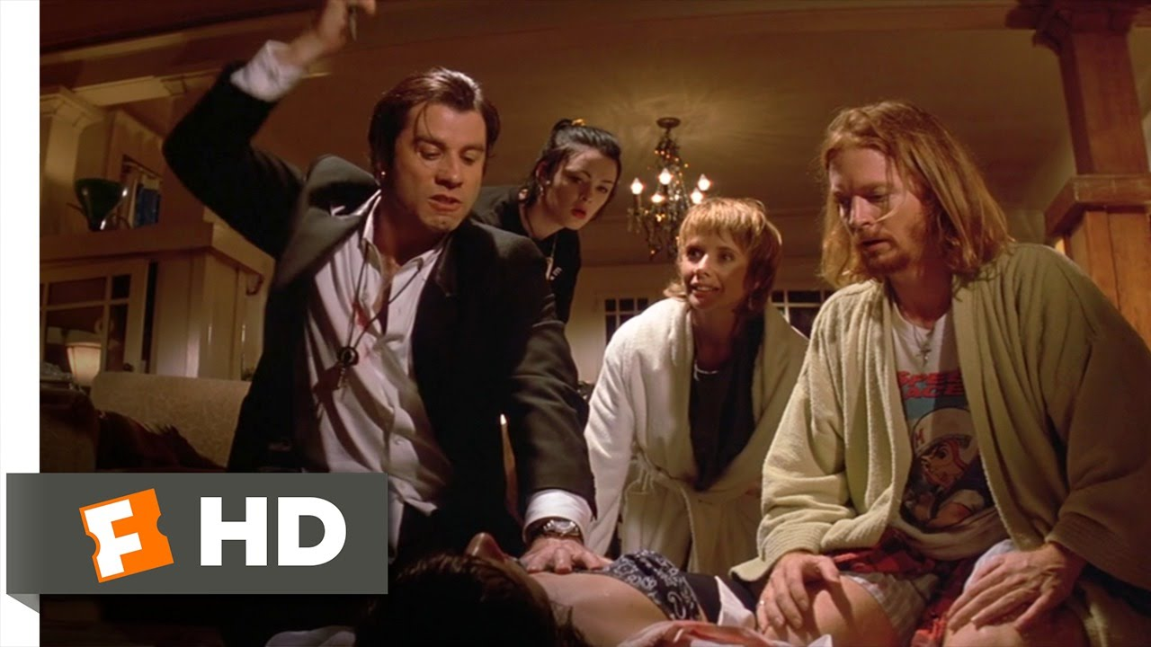 Pulp Fiction Wallpaper Hd A Shot Of Adrenaline Pulp Fiction 6 12 Movie Clip