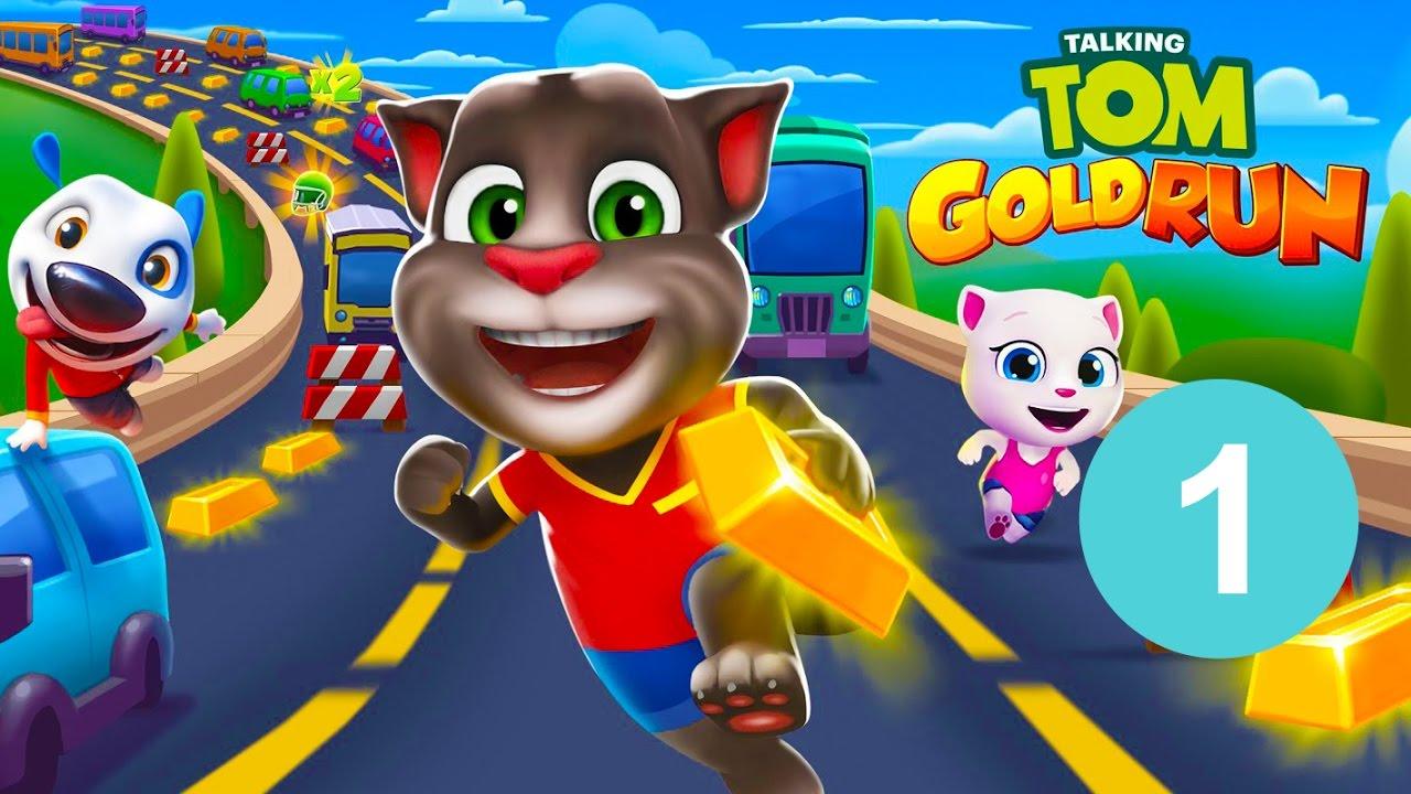 Chơi Game: Mèo TALKING TOM chạy đuổi bắt cướp nhặt vàng #1 #1