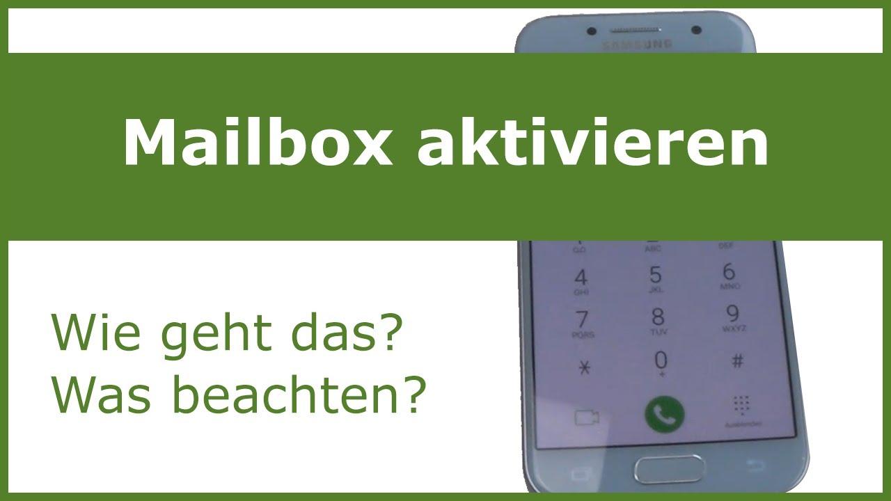 Mailbox einrichten - so geht´s