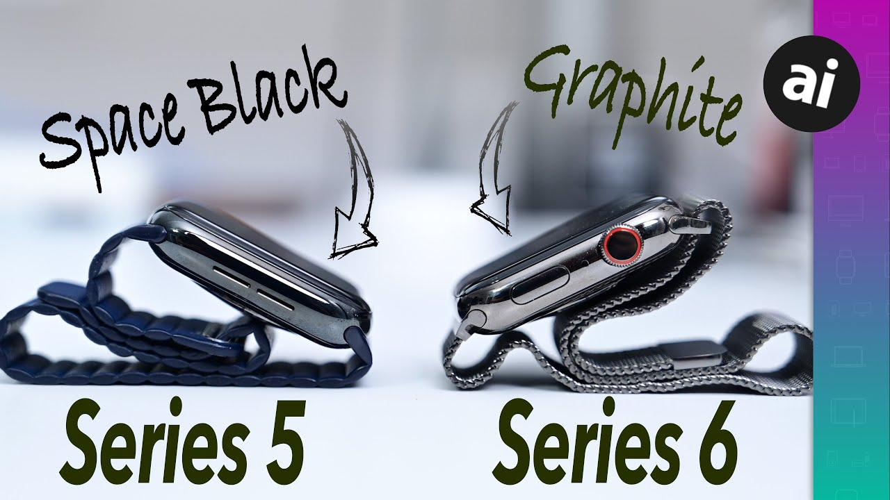 Compared: Apple Watch Series 6 Graphite versus Apple Watch Series 5 Space Black