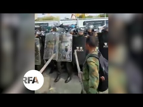 Protesting Veterans Face Off With Police in Shandong | Radio Free Asia (RFA)