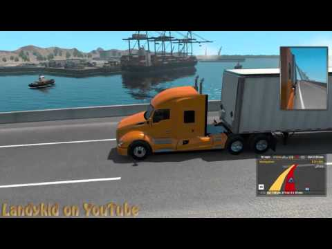 American Truck Simulator taking Furniture to Bakersfield