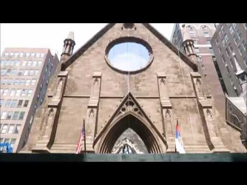 The ruins of Saint Sava Cathedral in New York
